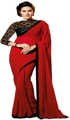 Sanjewga Collection Self Design Fashion Polyester Sari