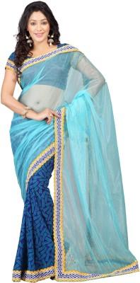 Shagun Prints Self Design Fashion Net Sari