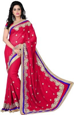 VishakhaFashions Embriodered Fashion Georgette Sari