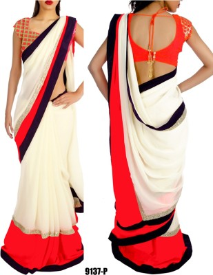 Krishna Fab Self Design Bollywood Chiffon Sari