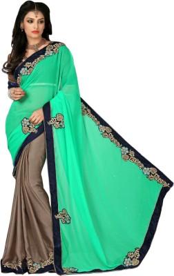 By Aktrendz Plain Bollywood Chiffon Sari