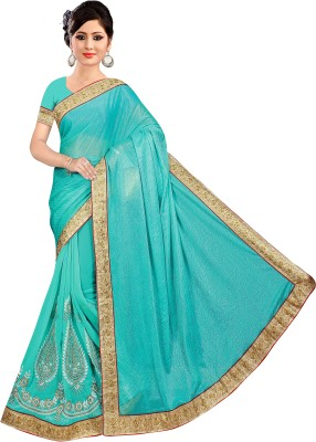 Vini Designer Embriodered Leheria Lycra Sari