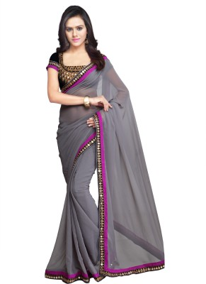 Green Moments Self Design Bollywood Georgette Sari