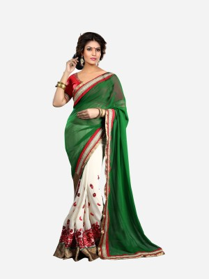 Patij Embriodered Fashion Chiffon Sari