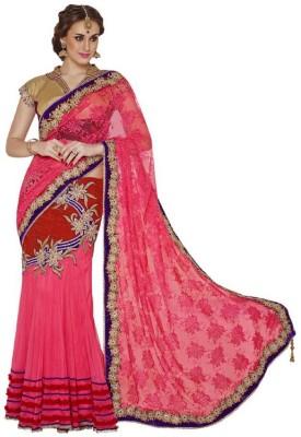 Vidya Fashion Embriodered Bollywood Net Sari