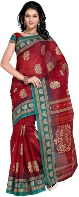 EvaFashion Printed Bollywood Handloom Cotton Linen Blend Sari