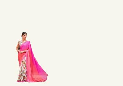 NARGIS FASHION Printed Fashion Chiffon, Cotton, Net Sari