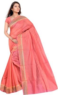 revathi textiles Plain Chettinadu Cotton Sari