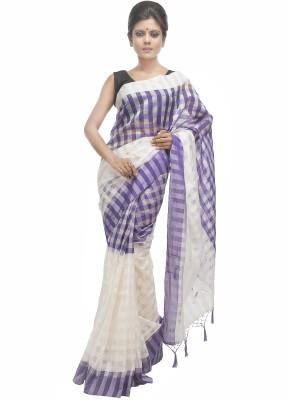 Retaaz Checkered Fashion Silk Cotton Blend Sari