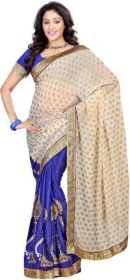 Jay Textile Self Design Fashion Satin Sari