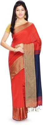 Rudrakshhh Dhakai Embriodered Kanjivaram Handloom Silk Cotton Blend Sari