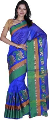 JISB Self Design Coimbatore Poly Silk Sari