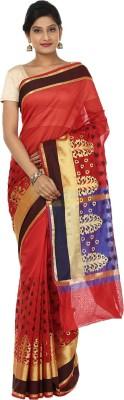 Sevensquare Woven Banarasi Net Sari