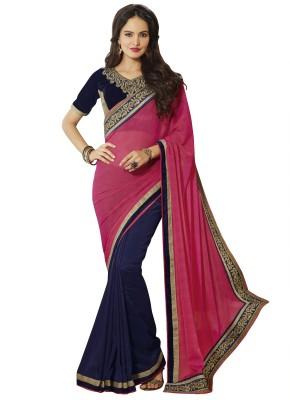 V-Style4u Embriodered Fashion Jacquard, Georgette Sari