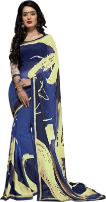 Recrafto Printed Fashion Chiffon Sari