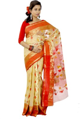B3Fashion Woven Kosa Handloom Tussar Silk Sari