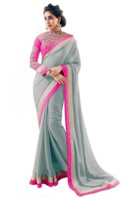 Kyara Self Design Lehenga Saree Chiffon Sari