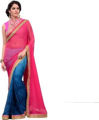 She Fashion Embriodered Fashion Chiffon Sari