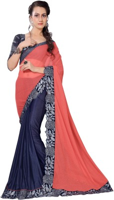 Oomph! Embroidered Bollywood Georgette Sari(Red)