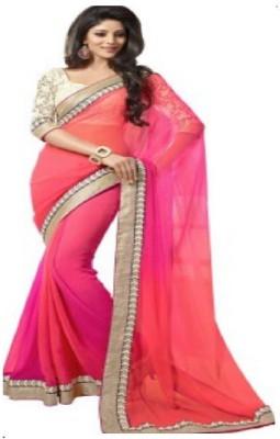Surati Solid Daily Wear Georgette Sari