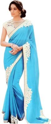 Saaj Plain Fashion Pure Georgette Sari