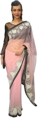 Divy Embriodered Fashion Net Sari