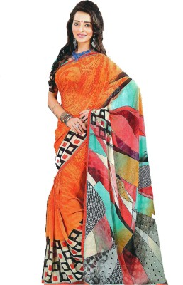 Synthetic Printed Daily Wear Synthetic Fabric Sari