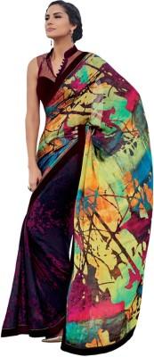 Heart & Soul Hand Painted Bollywood Chiffon Sari