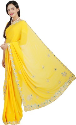Live With Style Embellished Fashion Georgette Sari