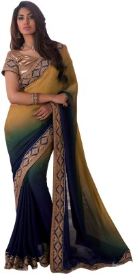 Shop Plaza Embriodered Daily Wear Satin Sari