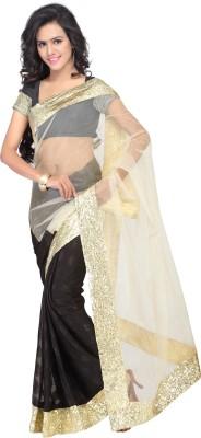 Parmeshwari Textiles Solid, Self Design Bollywood Net, Georgette Sari