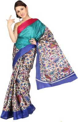 Ishin Printed Fashion Art Silk Sari
