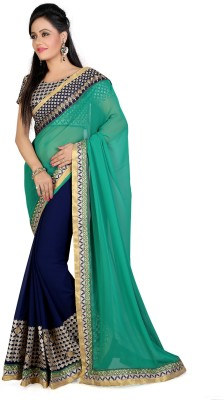Shyam Creations Embriodered Bollywood Georgette Sari