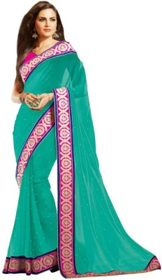 Vipul Saree Embellished, Embriodered Fashion Chiffon Sari