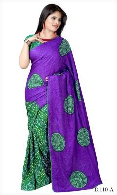 Santosafashion Printed Bandhani Banarasi Silk Sari