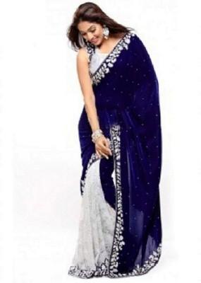 Ramnathcreation Self Design Fashion Velvet Sari