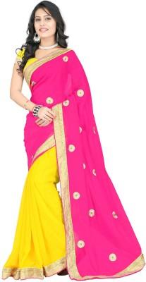 Jahnavi Creation Self Design Bollywood Georgette Sari
