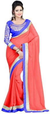 Krisha Fashion Embriodered Bollywood Cotton Sari