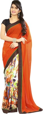 Magneitta Printed Daily Wear Georgette Sari