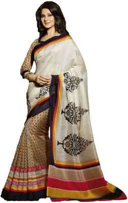Jhankar Collection Printed Bhagalpuri Art Silk Sari