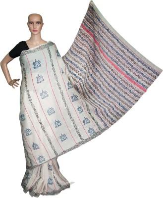 Prateeti Hand Painted Daily Wear Handloom Cotton Sari