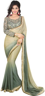 SunLightWolrdWide Plain Bollywood Georgette Sari