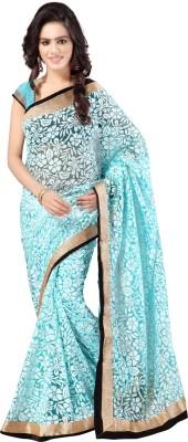 Anju Sarees Plain, Self Design Fashion Handloom Brasso Sari