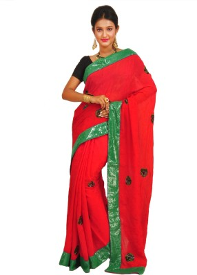 Anamika Collection Self Design Fashion Handloom Jacquard Sari