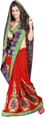 V Star Self Design Fashion Viscose Sari