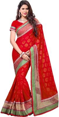Preet Creations Printed, Embellished, Embriodered Fashion Georgette Sari