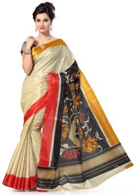 Aks Worldshop Printed Daily Wear Art Silk Sari