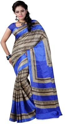 Wholetex Self Design Bhagalpuri Cotton Sari