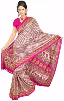 Jonikon Self Design Fashion Crepe Sari