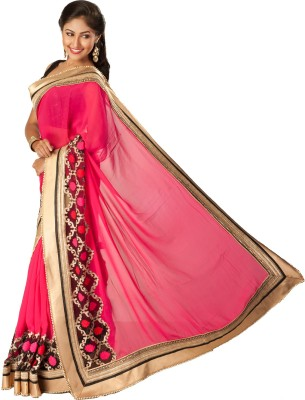 Tulaasi Embriodered Fashion Synthetic Georgette Sari